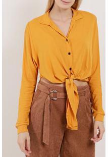 Camisa Manga Longa Feminina Autentique Amarelo