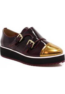 Sapato Zariff Shoes Oxford Flatform Monk Strap