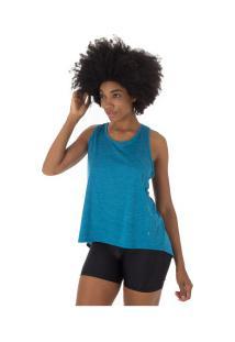 Camiseta Regata Oxer Transpassada - Feminina - Azul