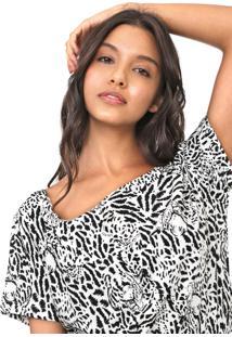 Blusa Colcci Tigre Branca/Preta