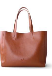 Bolsa Line Store Leather Sacola Shopper N2 Couro Whisky Rústico
