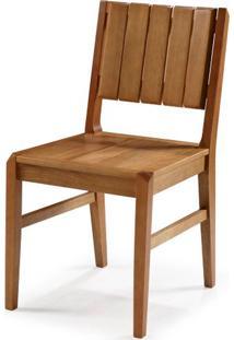 Cadeira Salvador Verniz Mel Encosto Ripado 43Cm - 60446 - Sun House