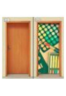 Adesivo Decorativo De Porta - Salão De Beleza - Maquiagem - 1040Cnpt
