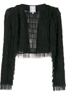 In The Mood For Love Jaqueta Cropped - Preto