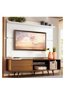 Rack Madesa Dubai E Painel Para Tv Até 65 Polegadas Com Pés - Rustic/Branco 5Z9B Marrom
