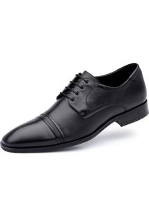 Derby Jacometti Cap Toe Preto 4815