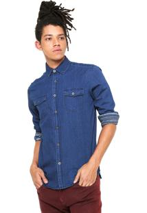 Camisa Jeans Red Nose Lisa Azul