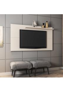 Painel Para Tv Até 50 Pol Móveis Bechara Chanel Off-White