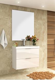 Conjunto Para Banheiro Pietra Branco/ Branco Brilho Bosi - Tricae