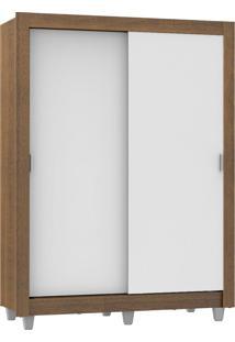 Guarda-Roupa Dallas 2 Portas De Correr Branco/RusticMadesa