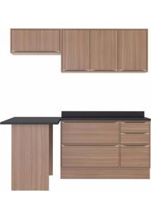 Cozinha Completa 5 Módulos 6 Portas E Rodapés Calábria Multimóveis Nogueira