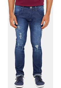 Calça Jeans Skinny Biotipo Stone Rasgos Masculina - Masculino