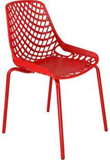 Cadeira De Cozinha Beau Design Vermelha