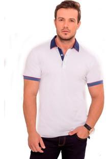 Camiseta Polo Branca - Masculino
