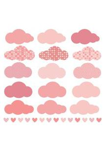Adesivo De Parede Chuva De Amor Clássico Rosa