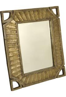 Espelho Retangular Com Moldura Sun King