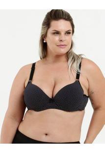 Sutiã Feminino Estampa Bolinhas Plus Size Marisa