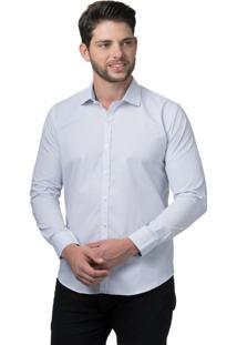Camisa Alfaiataria Burguesia Poá Branco Stil