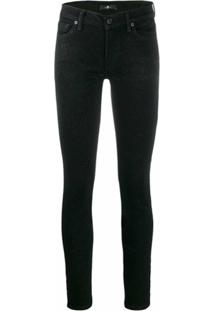 7 For All Mankind Calça Slim Com Brilho - Preto