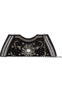Shrimps Clutch Dallas Com Cristais - Preto