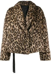 Unravel Project Jaqueta Animal Print - Neutro