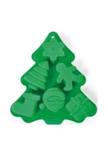 Forma De Silicone Pinheiro Verde