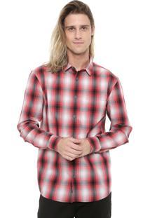 Camisa Quiksilver Reta Kyoto Vermelha