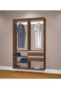 Guarda Roupa Casal Sem Portas Modelo Closet Kt1210 Avelã - Getama...
