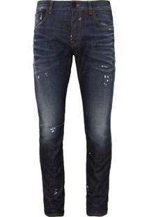 Calça John John Slim Messina 3D Jeans Azul Masculina (Jeans Escuro, 38)