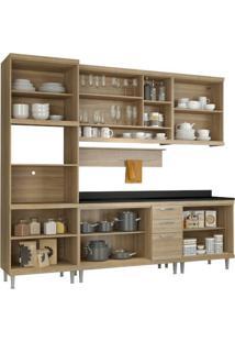 Cozinha Compacta Multimóveis Sicília 5815.132.132.610 Argila Se