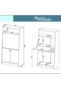 Armário Multiuso 1 Porta Basculante Tipo Mesa Tecno Mobili Nogal