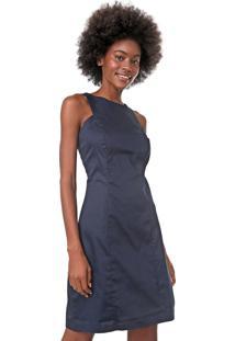 Vestido Mercatto Curto Recortes Azul-Marinho