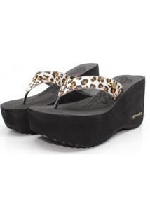Chinelo Barth Shoes Sorvete Glam Preto Onca