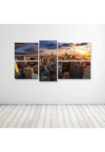 Quadro Decorativo - New York Dawn - Composto De 5 Quadros