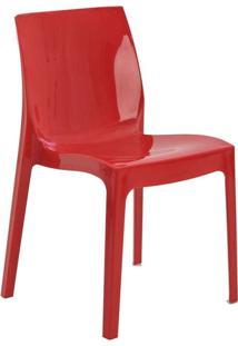 Cadeira De Jantar Ice Vermelho