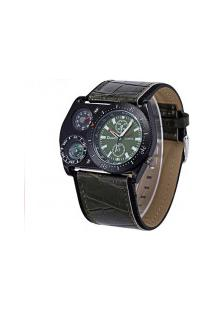 Relógio Masculino Oulm Hp4094 Com Bússola - Verde