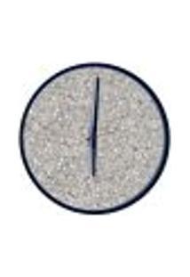 Relógio Decorativo Round Preto Mostrador Terrazzo Ponteiro Preto 40 Cm Diâmetro