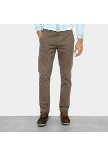 Calça Skinny Preston Color Bolso Faca Masculina - Masculino-Verde Militar