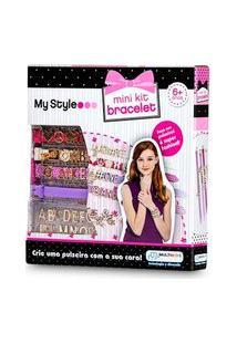 Pulseiras My Style Mini Kit Com Letras Para Personalizar Indicado Para +6 Anos Multikids - Br100 Br100