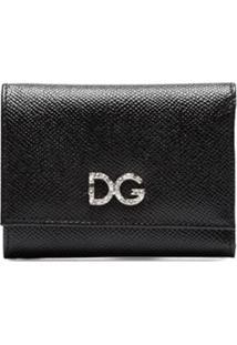 Dolce & Gabbana Carteira De Couro 'Dg' - Preto