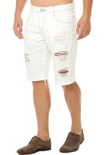 Bermuda Osmoze Middle Masculina - Masculino-Off White