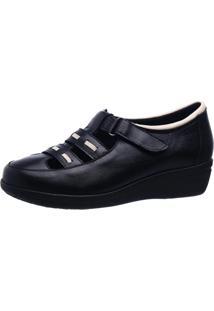 Sapato Anabela Esporão Doctor Shoes 188 Preto - Kanui