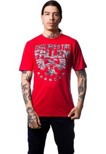 Camiseta Fallen Civil Branco/Vermelho