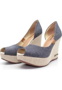 Scarpin Barth Shoes Noite Jeans Feminino - Feminino-Jeans Claro