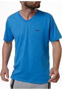 Camiseta Manga Curta Masculina No Stress Azul