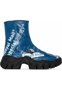 Rombaut Ankle Boot Royal Mail Com Estampa - Azul