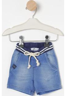 Bermuda Jeans Estonada- Azul- Oliveroliver