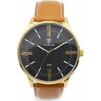483dea02959 Relógio Tuguir Analógico 5049 - Masculino-Dourado+Preto