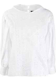 Isabel Marant Broderie Anglaise Blouse - Branco