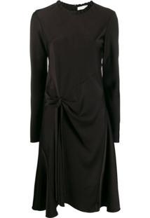 Chloé Vestido Com Detalhe De Nó - Preto